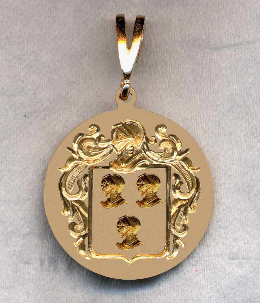 Hand engraved family crest jewelry pendants pendant 69 aloadofball Images