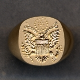 Great Seal of the United States Gold Ring by Heraldica Imports