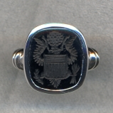 Great Seal of the United States Stone Ring by Heraldica Imports
