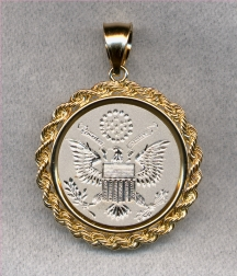 Great Seal of the United States Gold and/or Silver Jewelry by Heraldica Imports