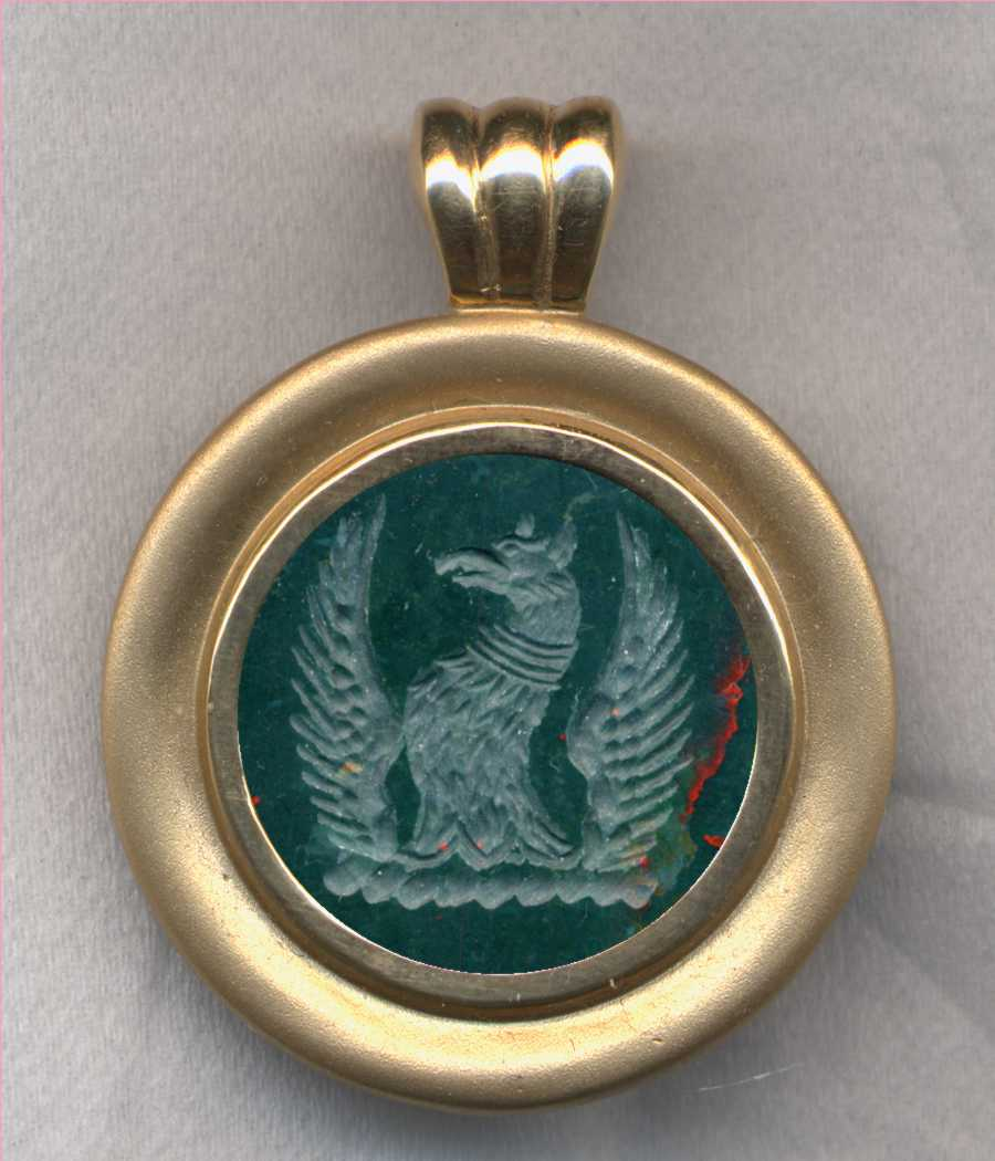 Bloodstone Crest Pendant from our 6000 Crest Stone Pendant Collection